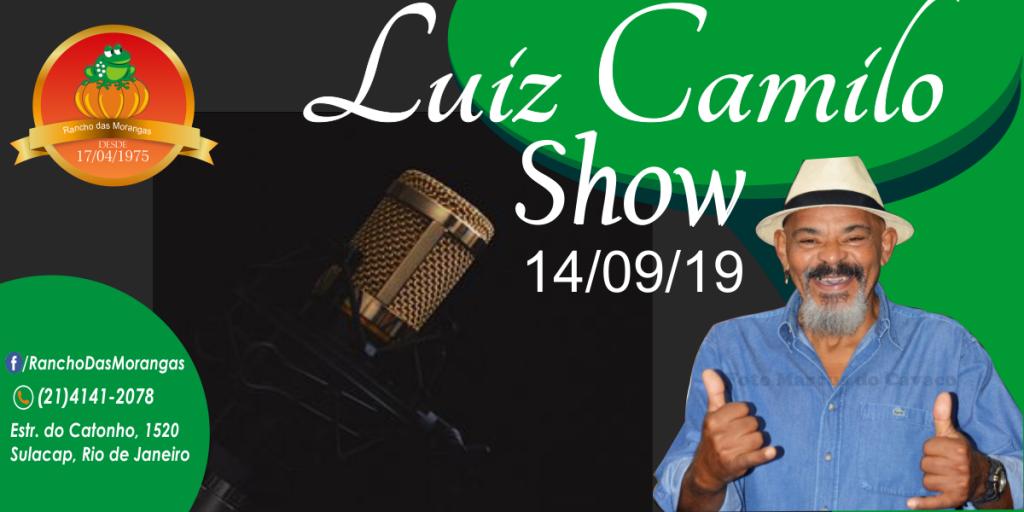 Show com Luiz Camilo as 21:00hrs.