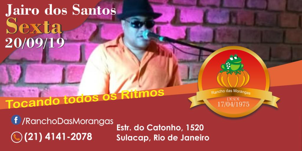 Jairo dos Santos (tocando todos os ritmos) Sexta 20/09.